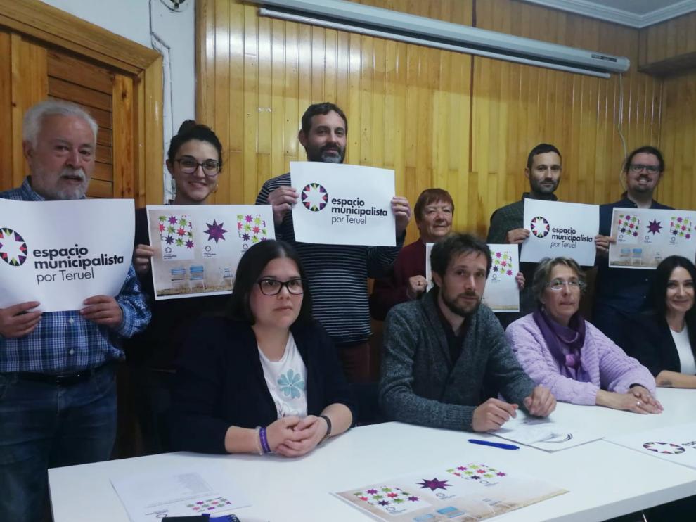Presentación de la candidatura de Espacio Municipalista de Teruel.