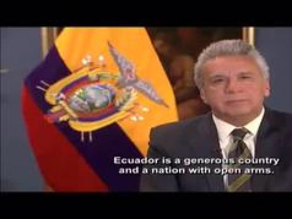 """Lenín Moreno confirma que la retirada se produce por la """"violación reiterada de convenciones internacionales"""""""