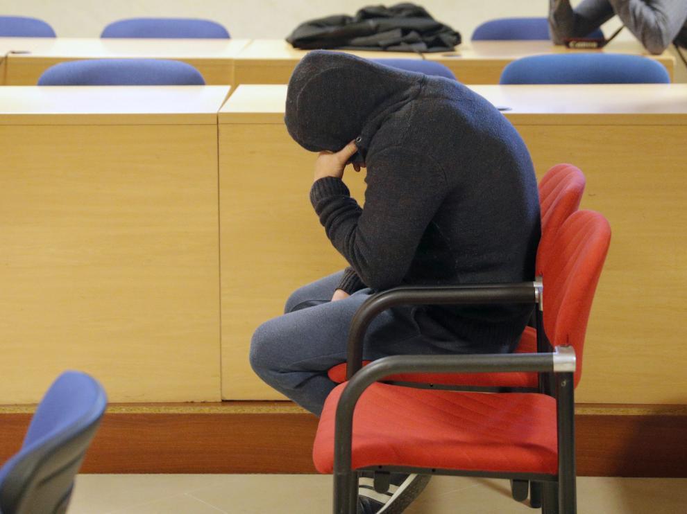 'El Chicle', durante una nueva sesión de su juicio por rapto este jueves en Santiago de Compostela.