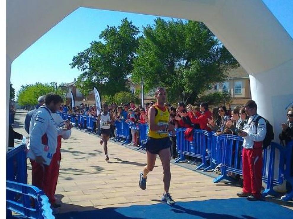 Imagen de la llegada del año anterior de la carrera de Sobradiel.