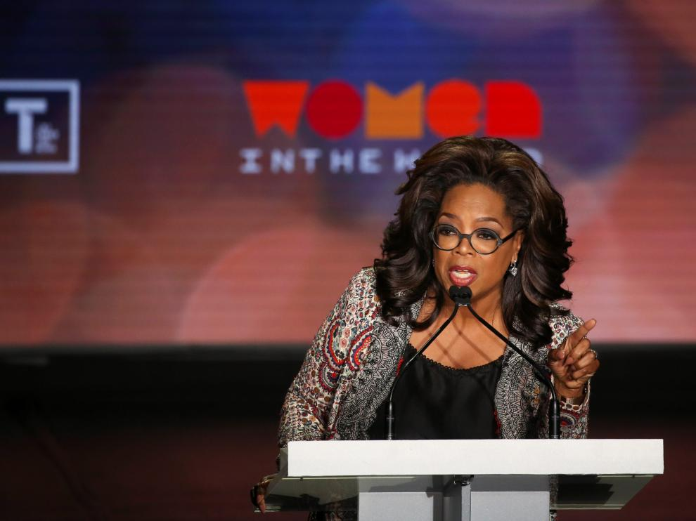 Oprah Winfrey takes part in the Women In The World Summit in New York City, U.S., April 10, 2019. REUTERS/Caitlin Ochs [[[REUTERS VOCENTO]]] USA-WOMEN/SUMMIT