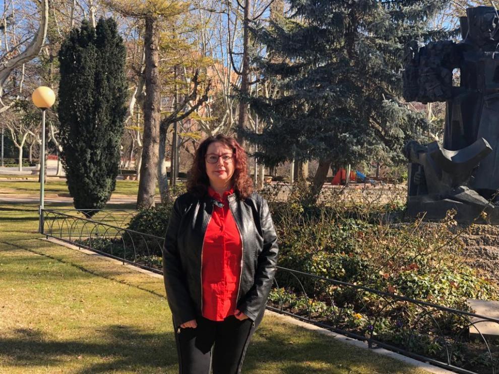 Anabel Gimeno, portavoz de Ganar Teruel.