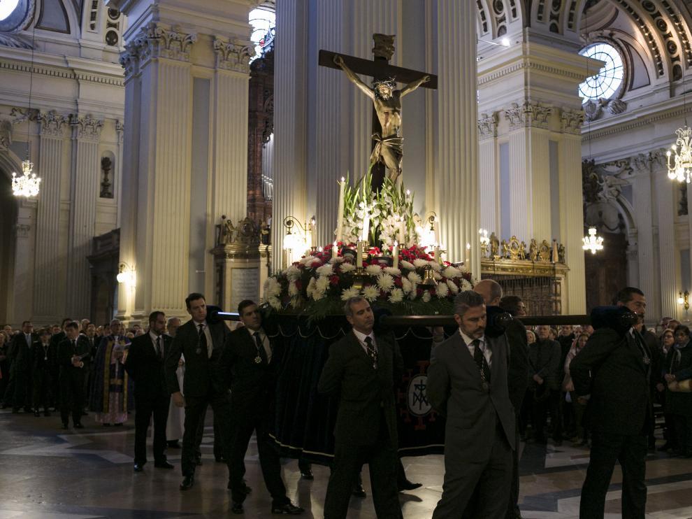 ARAGON VIACRUCIS DEL CABILDO EN EL PILAR / 12-04-2019 / FOTO:ARANZAZU NAVARRO [[[FOTOGRAFOS]]]