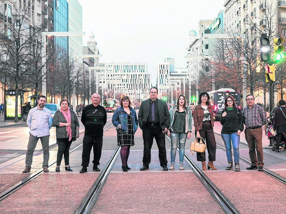 Carlos Martínez, Mamen Campuzano, José Aparicio, Pilar Ortego, Josué Nuño, Adriana Aguerri, Cristina Ibáñez, Iuliana Lungu y Carmelo García