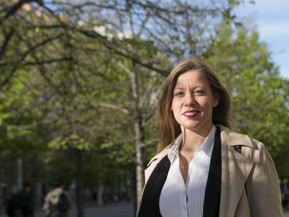 Pilar Berges es una de las primeras beneficiarias del Plan de retorno de talento joven aragonés del IAJ