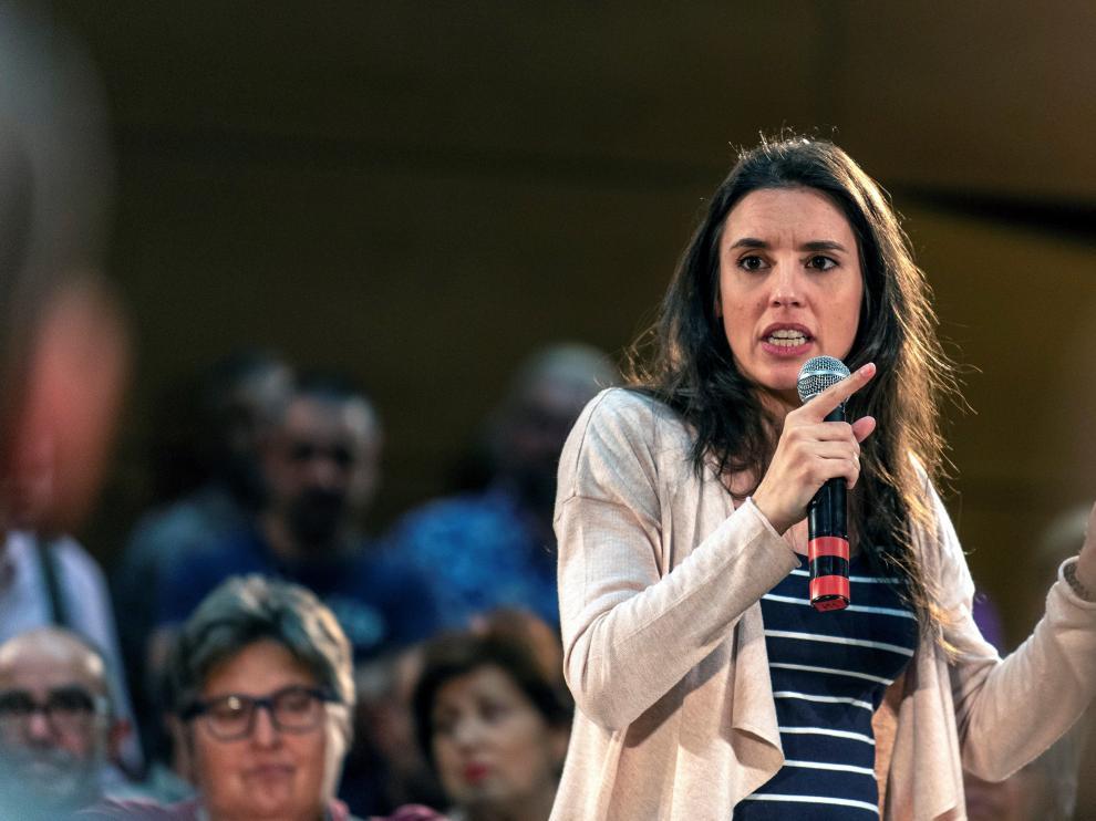 La número dos de la candidatura de Unidas Podemos por Madrid, Irene Montero.