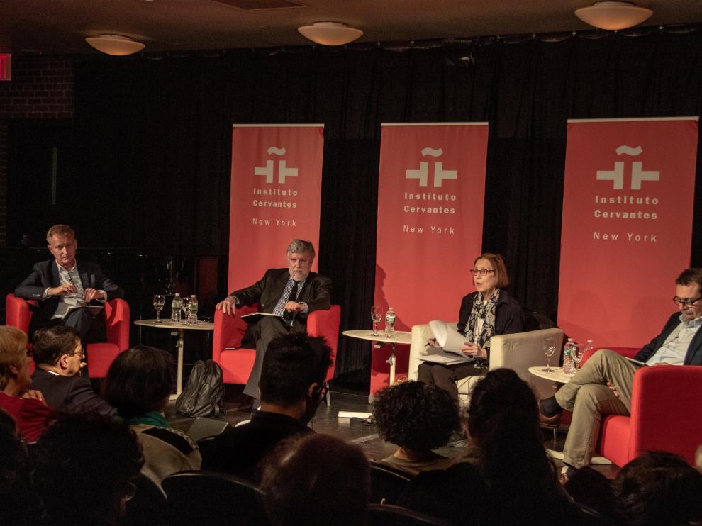 Debate 'El futuro de Europa, nacionalismo y comunismo como amenaza a la democracia'.