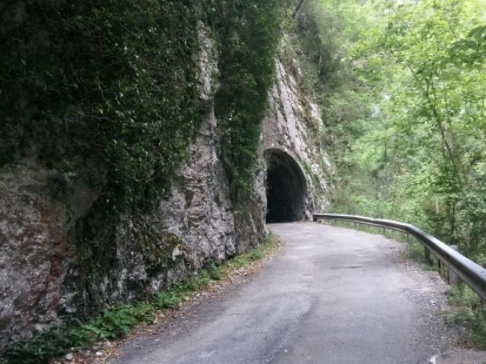La carretera del cañón de Añisclo.