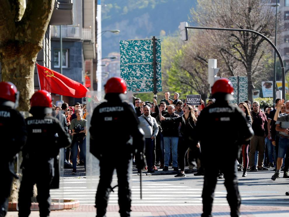 Altercados en los actos de Vox en el País Vasco.