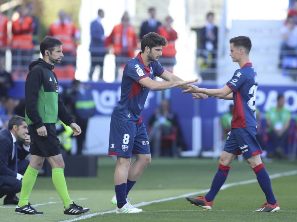 Melero sustituyó a Juanpi ante el FC Barcelona.