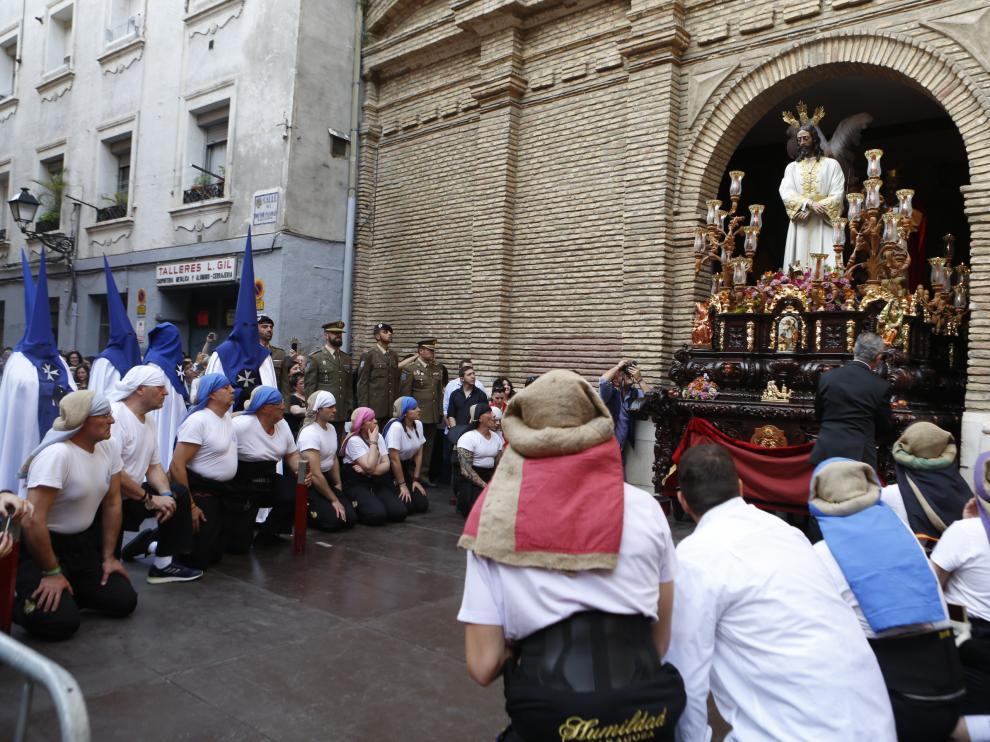 Procesión de la Humildad del Domigo de Ramos en Zaragoza