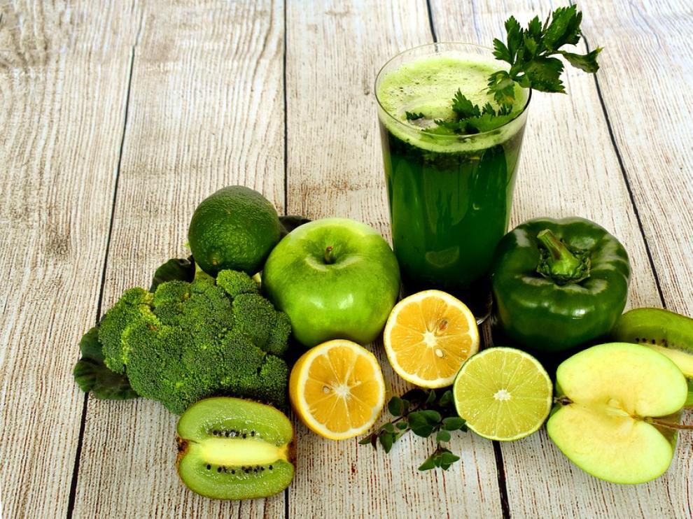 Batidos saludables de alimentos saludables.