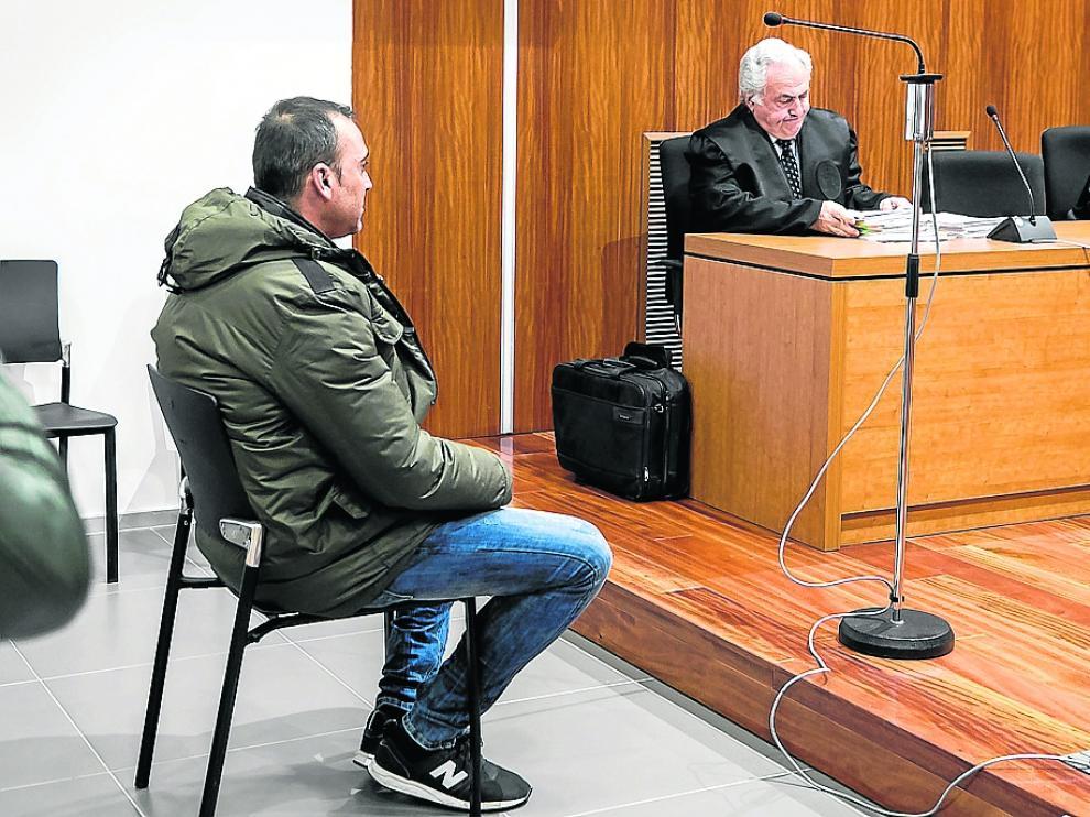 Cristian Q., durante el juicio que se celebró en la Audiencia Provincial de Zaragoza.