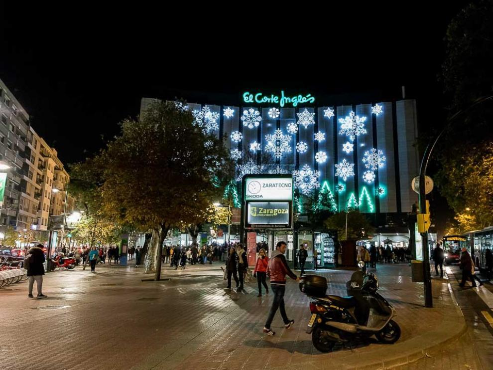 Iluminación navideña en Zaragoza.