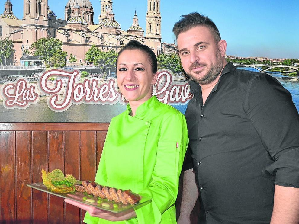 Ana María Gavrus y Sergio Caballero Torres, en Las Torres de Gavrus.