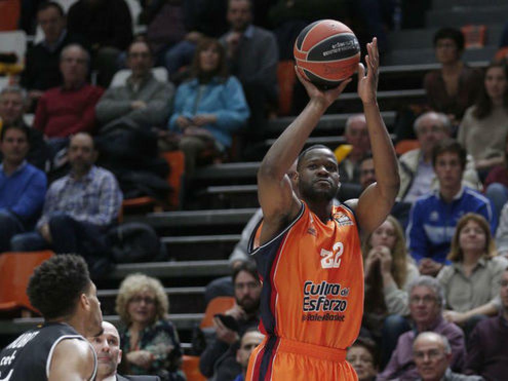 Latavious Williams en un partido con el Valencia Basket la pasada temporada.