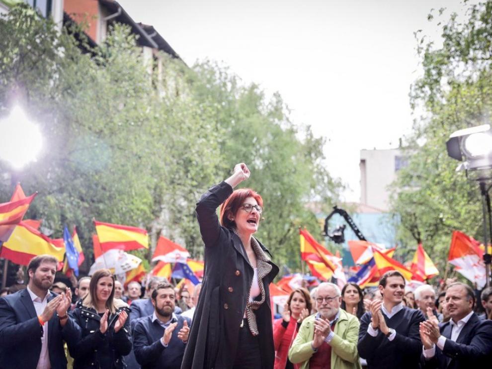 Maite Pagazaurtundúa en el acto de Ciudadanos en Rentería