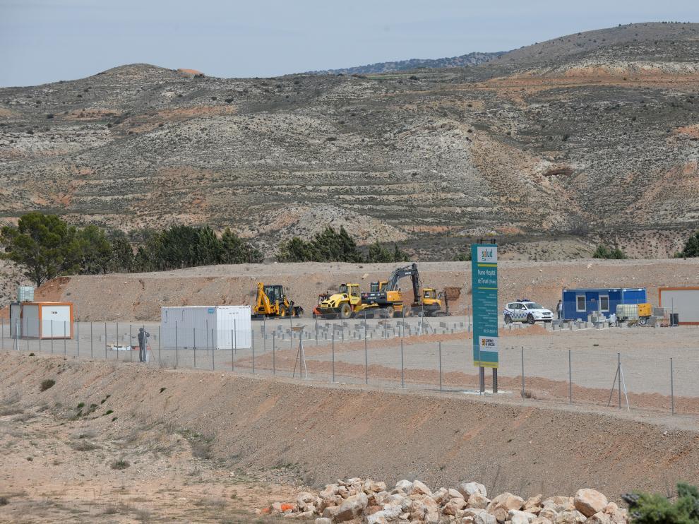 Obras nuevo Hospital de Teruel /2019-04-15/ Foto: Jorge Escudero [[[FOTOGRAFOS]]]