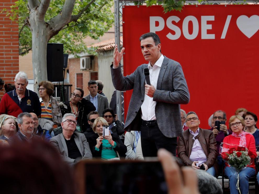 El presidente del Gobierno y candidato del PSOE para las elecciones generales, Pedro Sánchez.
