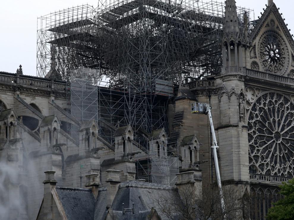 Estado de la catedral tras el incendio