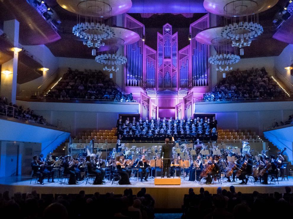 Actuación de la Orquesta Clásica Santa Cecilia en el Auditorio Nacional de Madrid el pasado año.