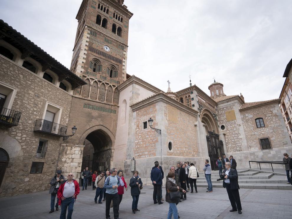 Inaguracion de la restauracion de las fachadas de la catedral de Teruel. 24-10-16 Foto Antonio Garcia/Bykofoto