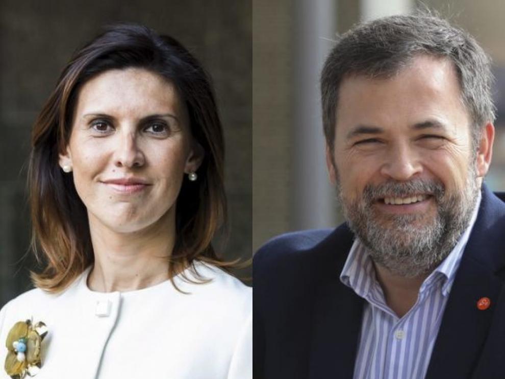 Jara Bernués y José Luis Cadena, candidatos de Cs por Huesca.