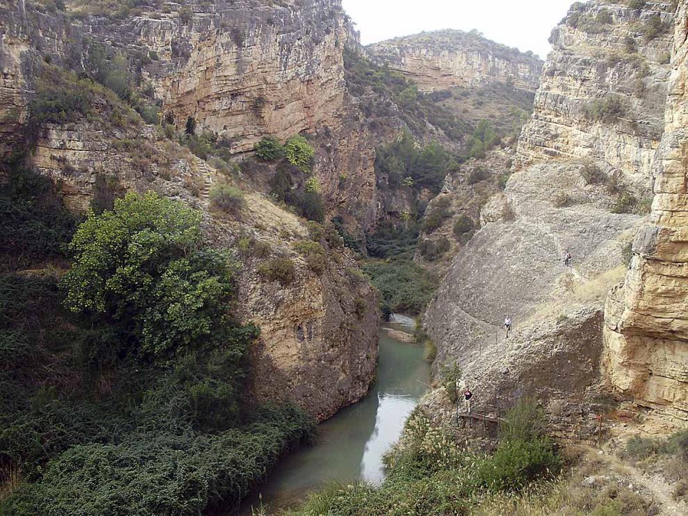 Desfiladero de los Estrechos del río Martín.
