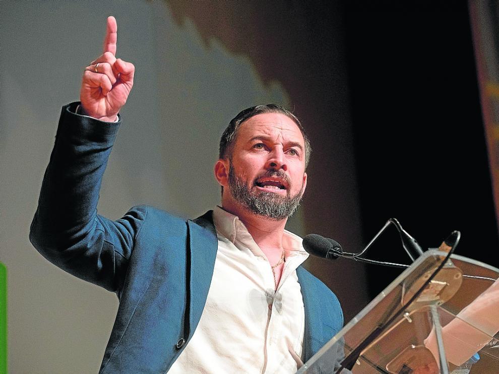 Abascal interviene ayer en un acto de Vox en Granada.
