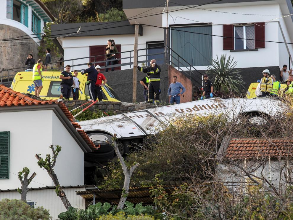 Accidente de un autobús turístico en Madeira.