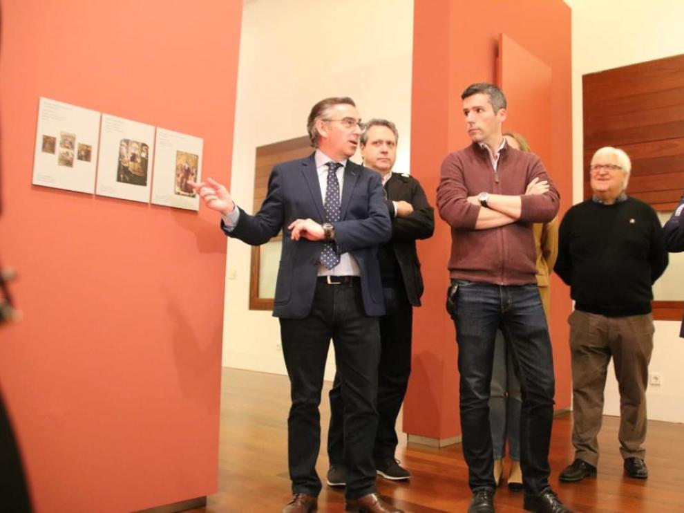 Beamonte ha visitado el Museo Diocesano, la Catedral y los restos aparecidos en octubre.