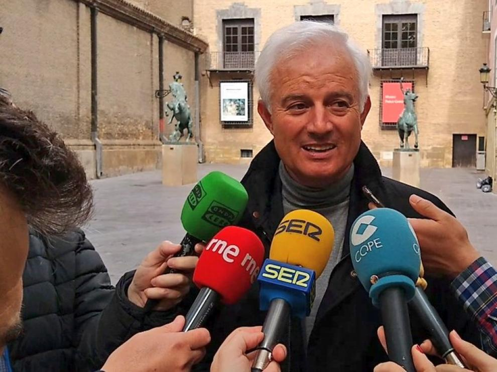 El candidato del PP al Congreso por Zaragoza, Eloy Suárez.