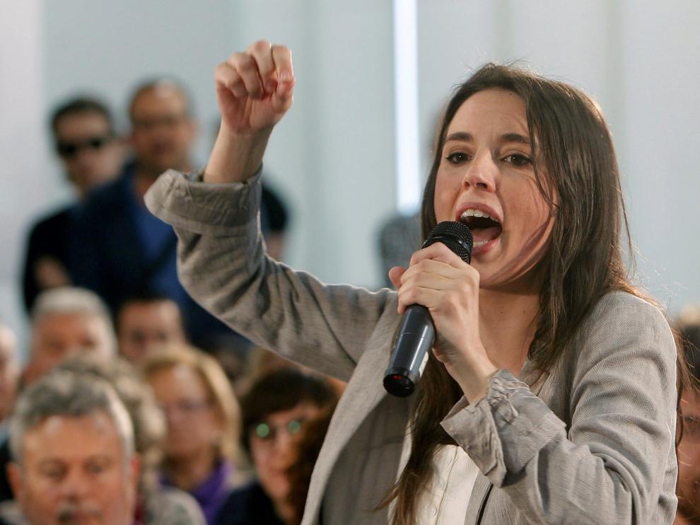 Acto electoral de Irene Montero en Alicante.