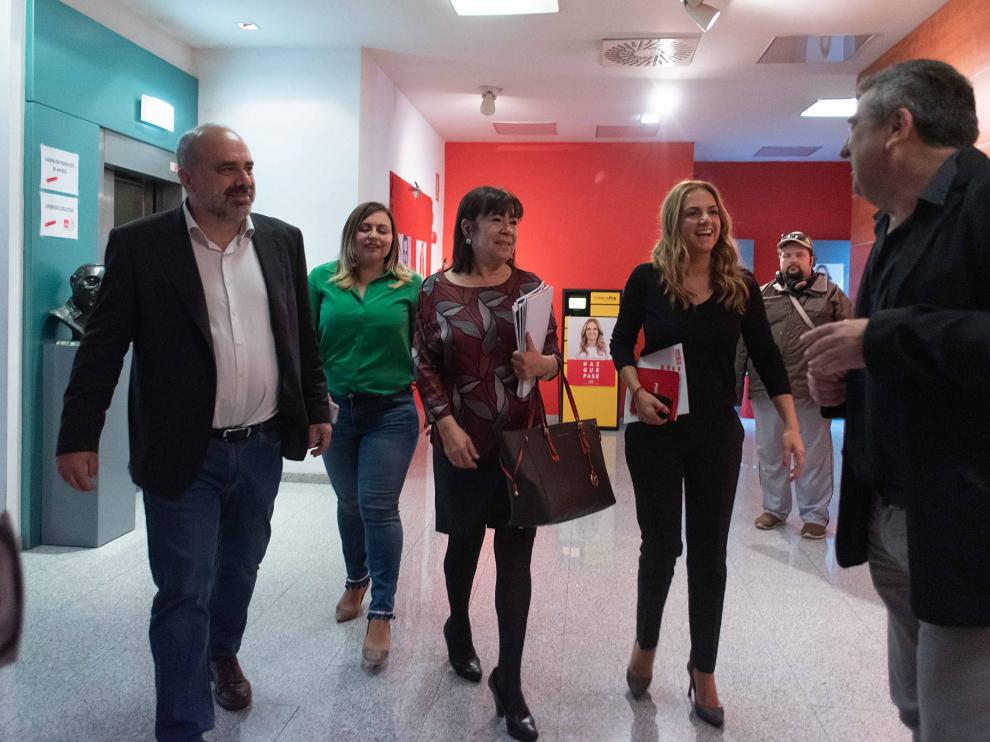 Cristina Narbona y Susana Sumelzo (PSOE) presentan el programa electoral.