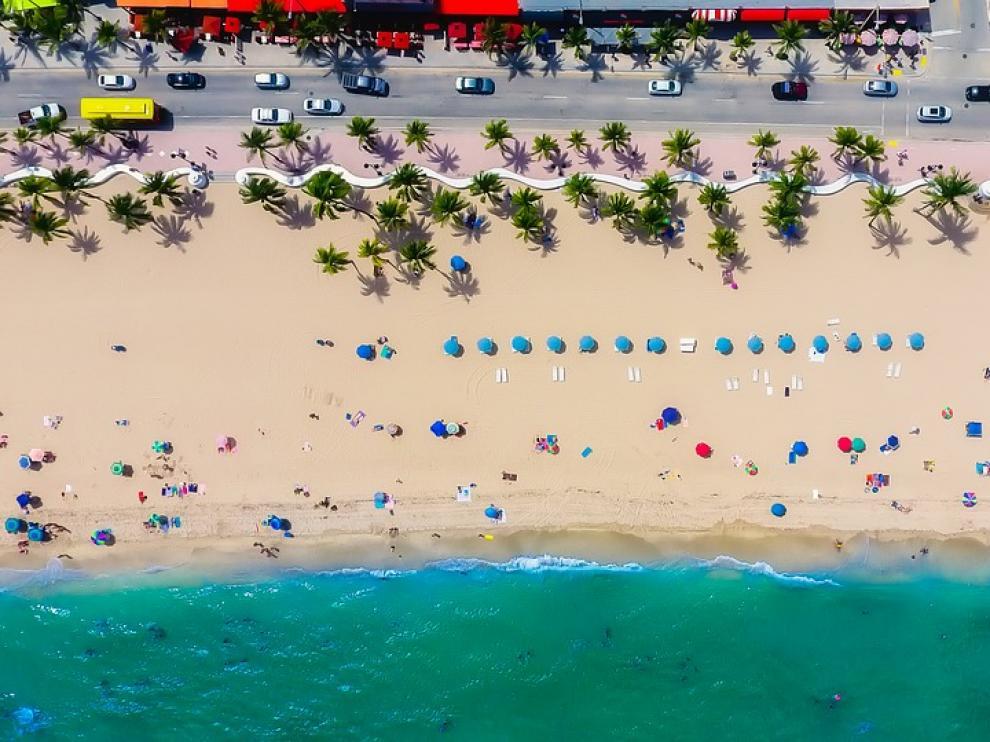 Una playa de Florida.