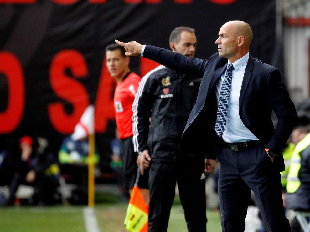 El preparador del Rayo Vallecano, Paco Jémez, durante un partido de su equipo.