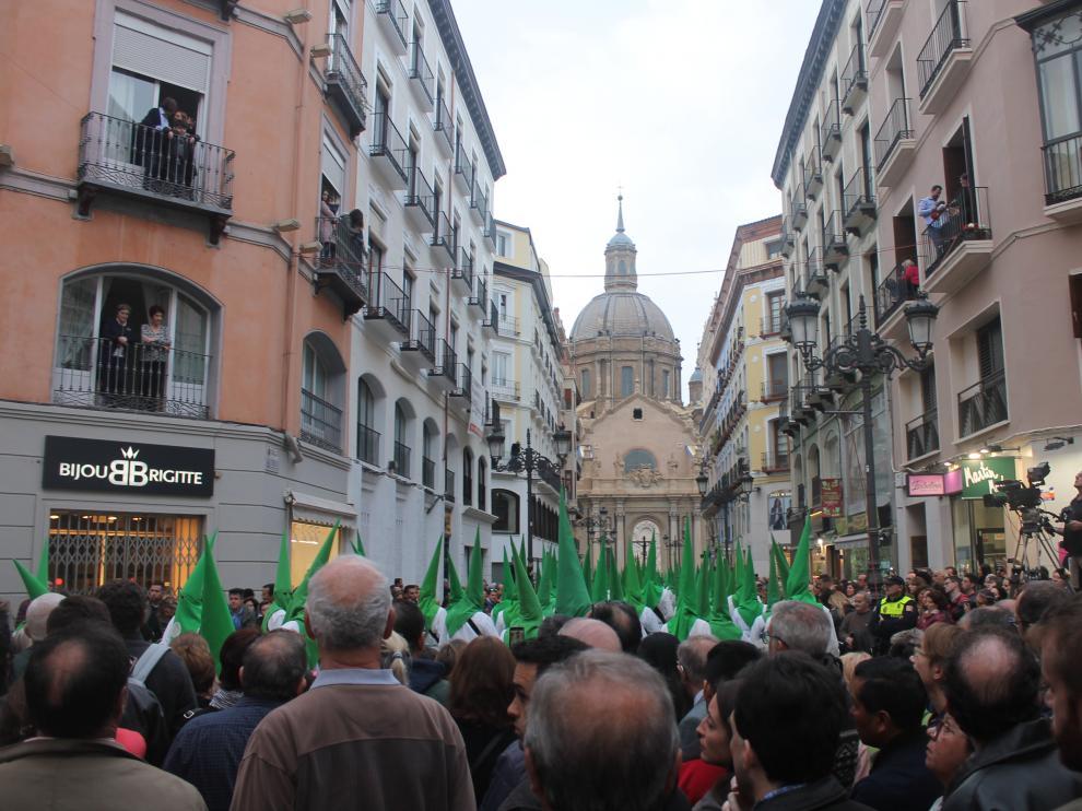 Procesión del Santo Entierro en Zaragoza.