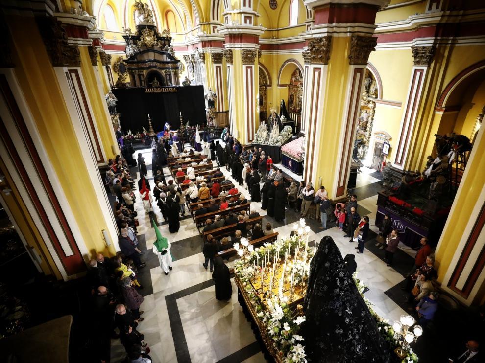 La procesión de las Esclavas en Zaragoza.