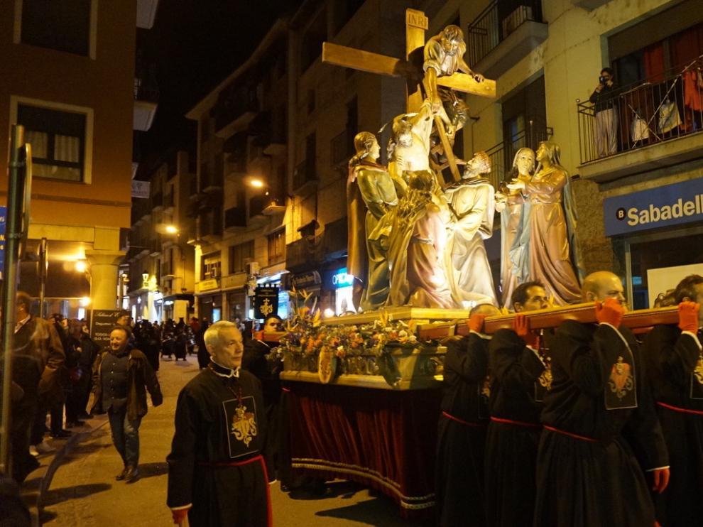 La procesión del Santo Entierro en Barbastro.