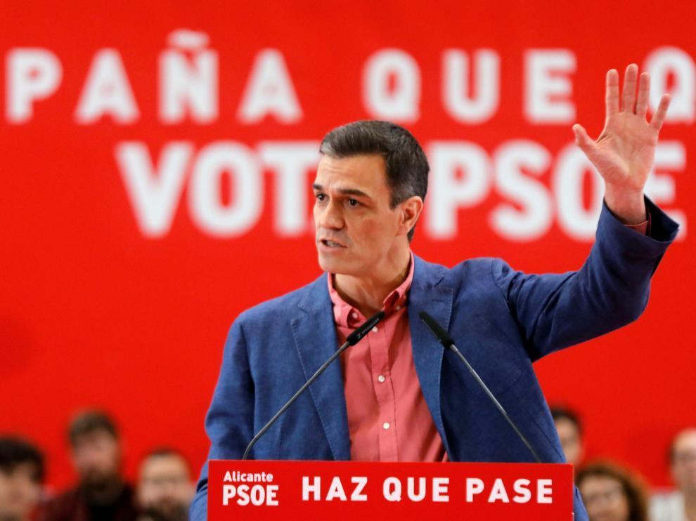 Pedro Sánchez este sábado en la Comunidad Valenciana.