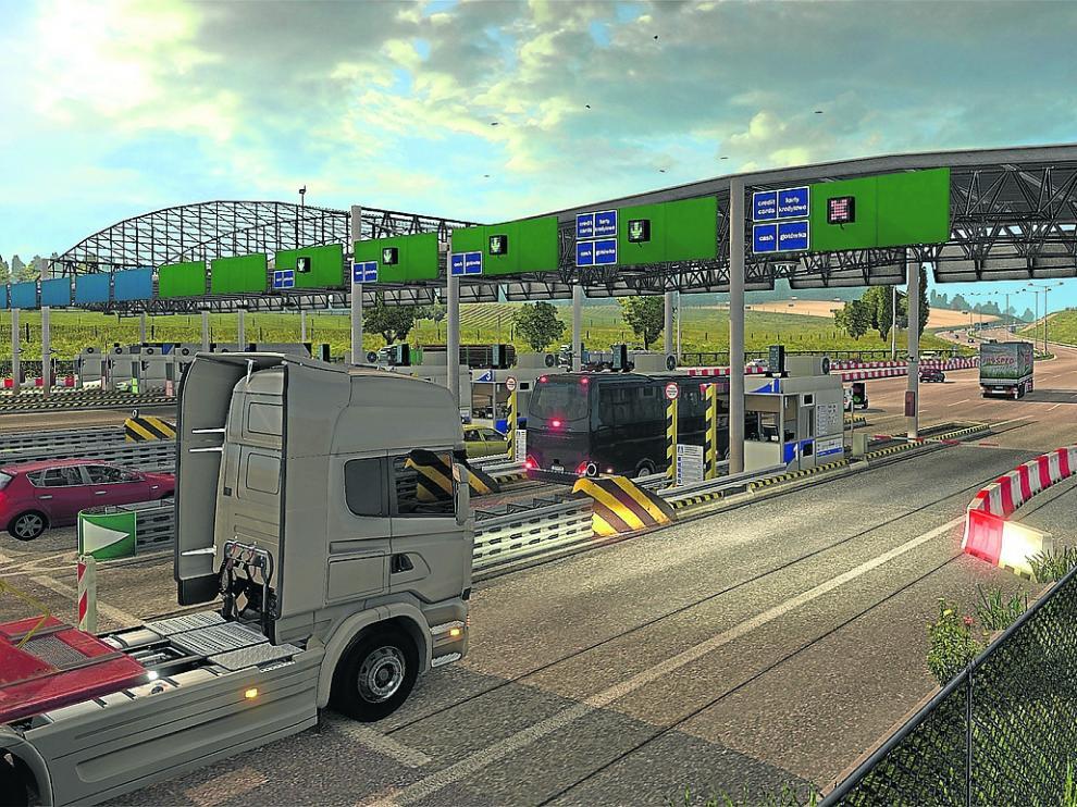 Imagen del videojuego 'Euro Truck Simulator', en el que se simula conducir camiones por Europa