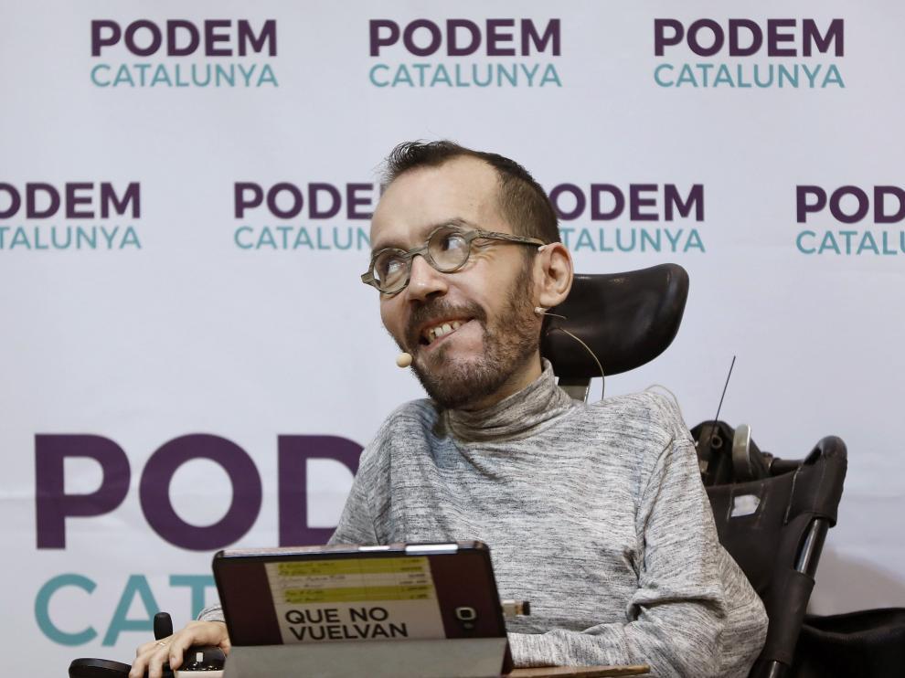 Pablo Echenique, este domingo, en Barcelona
