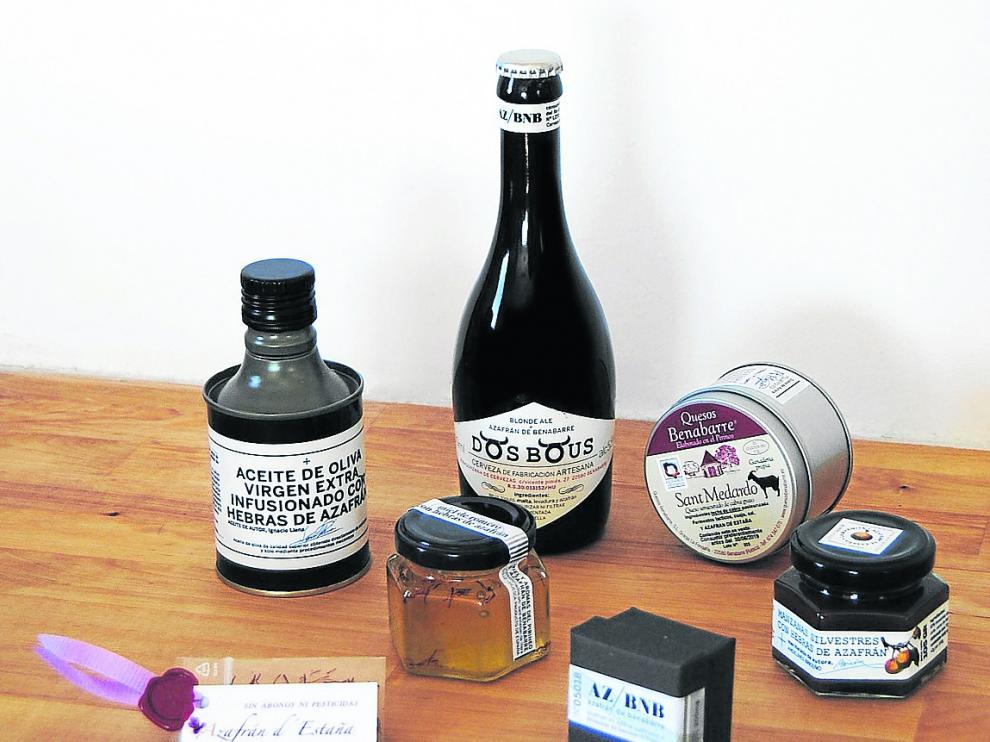 Imagen del lote de productos que forman parte de la iniciativa 'Territorio Azafrán'.