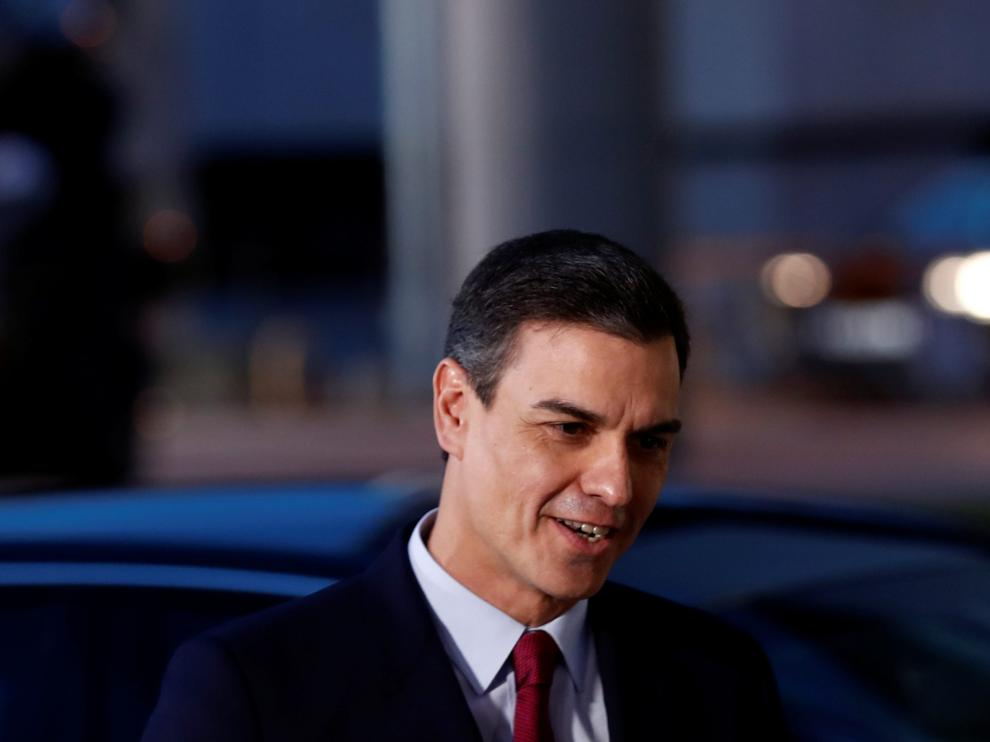 Spanish Prime Minister and Socialist Workers' Party (PSOE) candidate Pedro Sanchez arrives to attend a televised debate ahead of general elections in Pozuelo de Alarcon, outside Madrid, Spain, April 22, 2019. REUTERS/Sergio Perez [[[REUTERS VOCENTO]]] SPAIN-ELECTION/DEBATE
