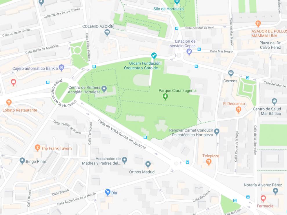 Los hechos tuvieron lugar en un parque situado en la calle de Valdetorres de Jarama, en Madrid.