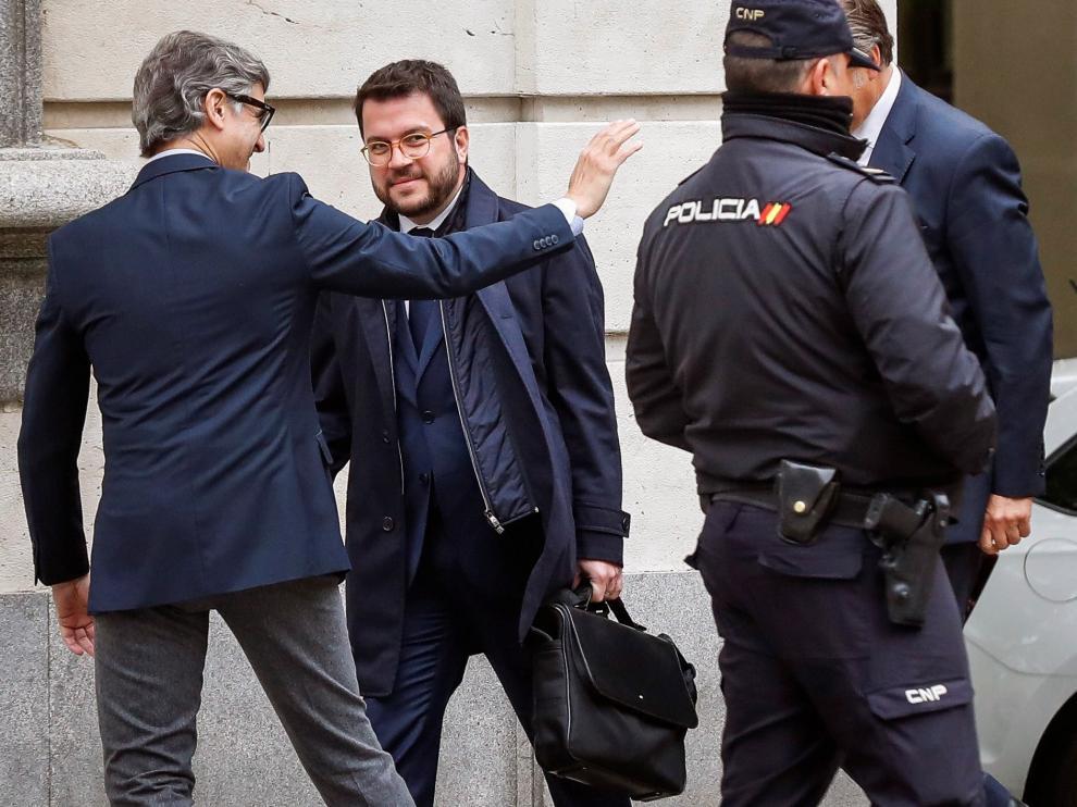 El tribunal exime a Aragonès de declarar como testigo en el juicio por el procés
