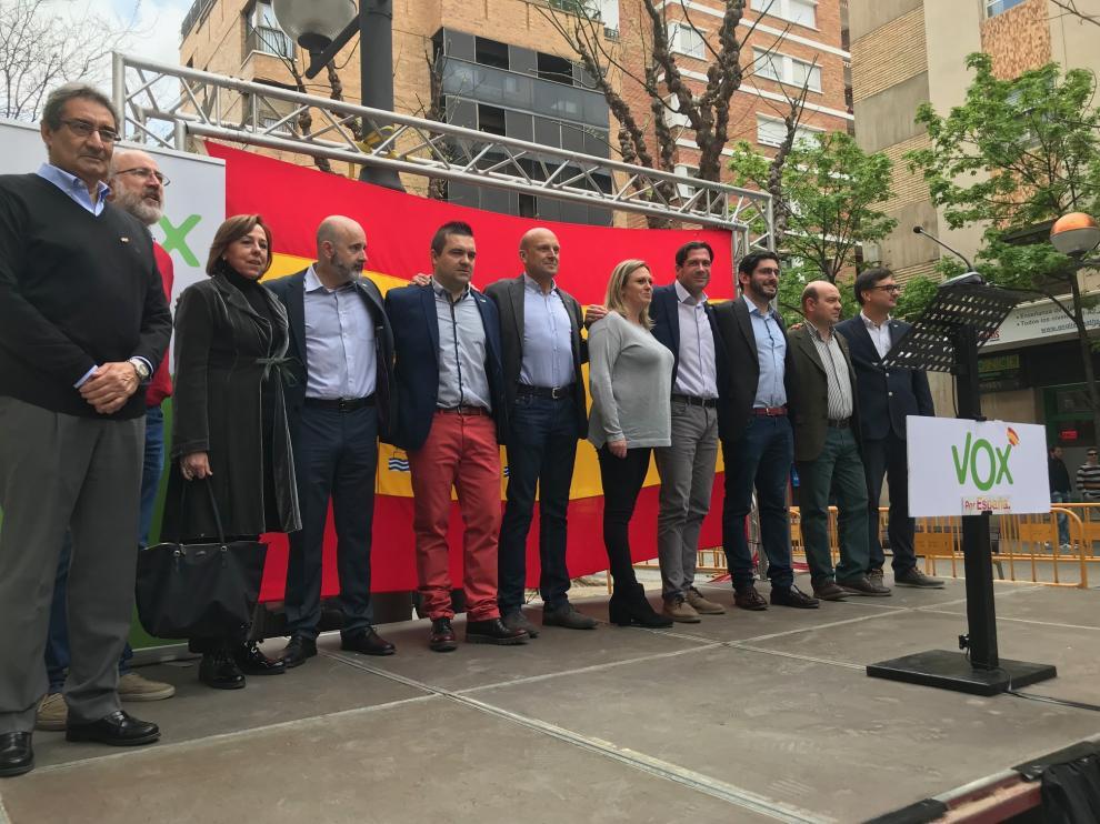 Imagen de los principales candidatos de Vox al Congreso y al Senado por las tres provincias aragonesas.
