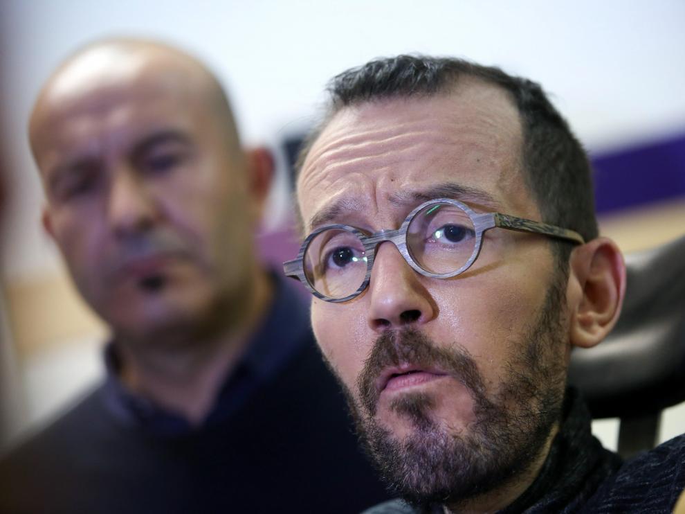 El candidato de Unidas Podemos al Congreso por Zaragoza, Pablo Echenique.