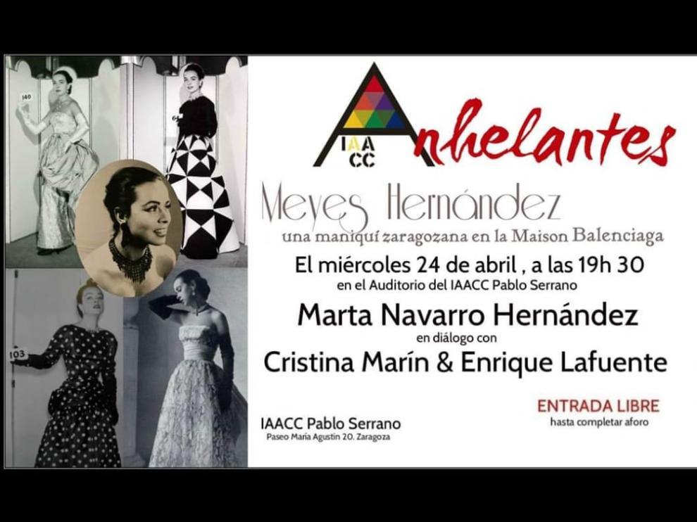 El ciclo Anhelantes recuerda la figura de Meyes Hernández, maniquí de Balenciaga.