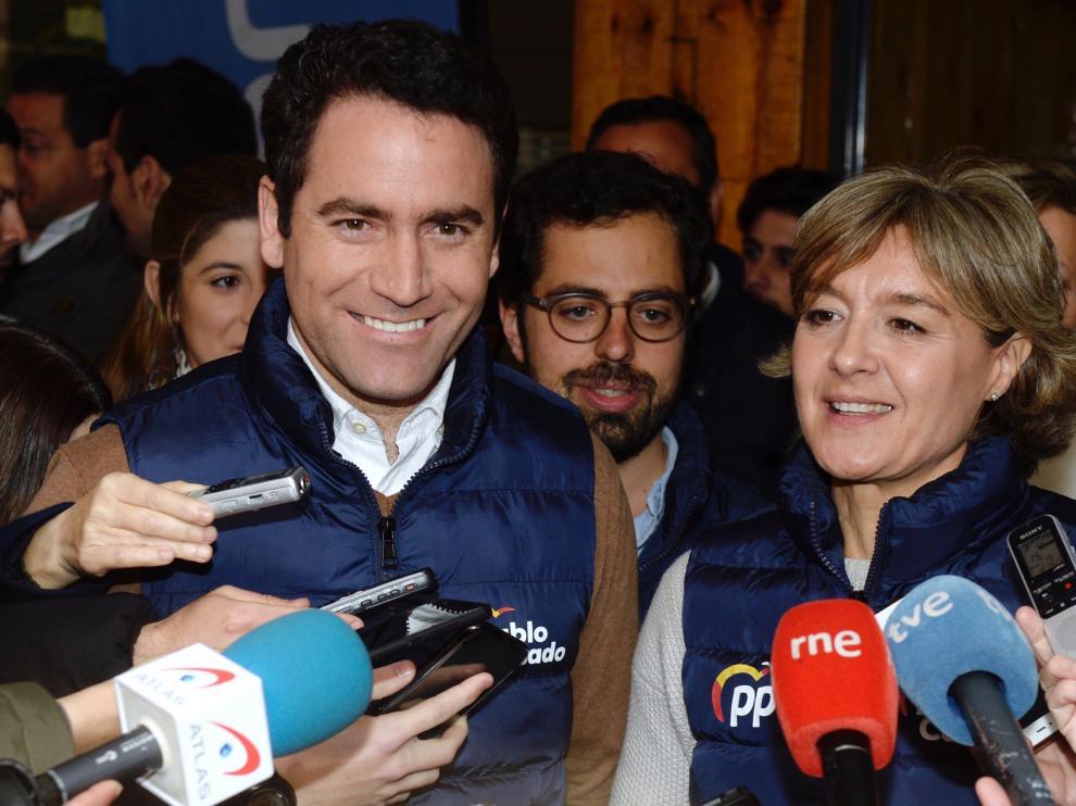 El secretario general del PP, Teodoro García Egea, este miércoles en un acto en Valladolid.